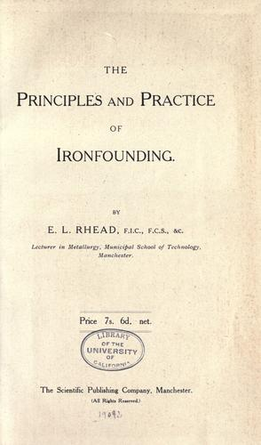 The principles and practice of ironfounding by